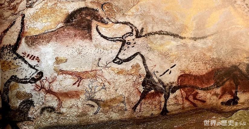 ヴェゼール渓谷の先史的景観と装飾洞窟群 ラスコー洞窟「牡牛の広間」壁画 ©世界の歴史まっぷ